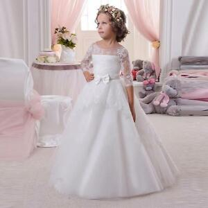NEW Communion Party Prom Princess Pageant Bridesmaid Wedding Flower Girl Dress @