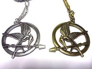Mockingjay pendant necklace 60 cm silver gold chain hunger games jay image is loading mockingjay pendant necklace 60 cm silver gold chain aloadofball Images