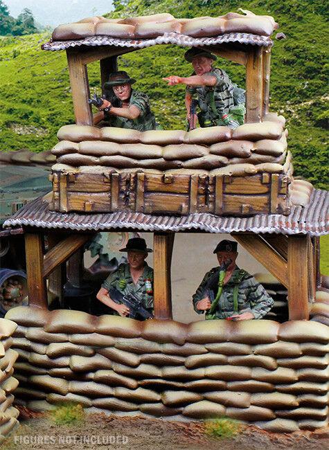 Collezionisti Showcase Guerra Del Vietnam CSBUNKOP01 Bunker Torre Osservazione