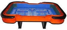 """SALE 93"""" craps table; green or blue felt, great for home use or poker game room"""