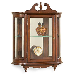 Image Is Loading Westbrook Wall Mounted Curio Cabinet Plantation Cherry Finish