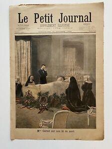 Supplement-Illustre-Le-Petit-Journal-16-10-1898-N-413-MME-CARNOT-LIT-DE-MORT