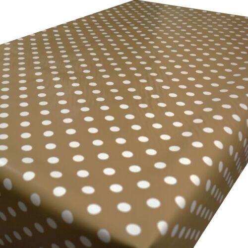 Polka Dot Spots Essuyer Nettoyer Nappe Toile Cirée Vinyle Table Housse Pvc