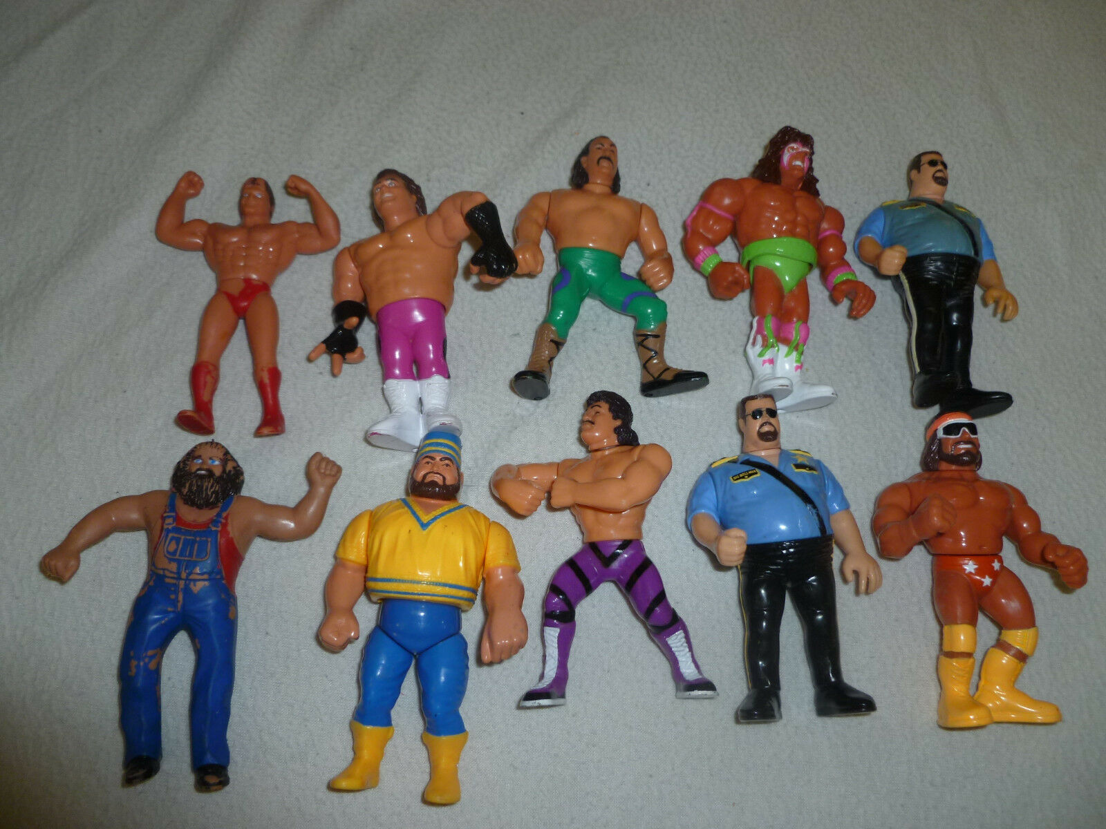 WRESTLING FIGURE LOT BRUTUS BEEFCAKE BOSS MACHO MAN JAKE SNAKE TITAN SPORTS WWF