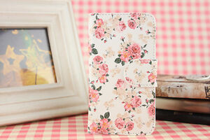 Pink-Flower-PU-Leather-Cover-Case-For-sony-huawei-lenovo-Mobile-Phones