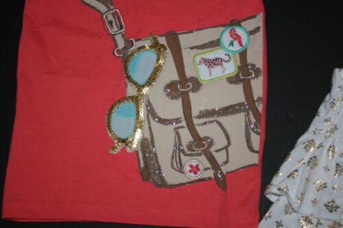 New Gymboree Satchel Tee Gold Medallian Ruffle Skort//Skirt Set 4 Yr Sunny Safari
