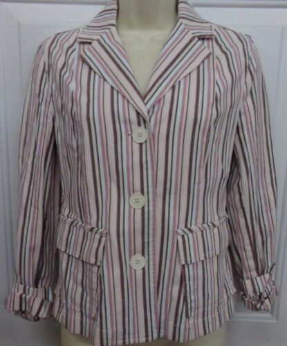 Women's Size 6 Ann Taylor LOFT Pastel Colored Stri