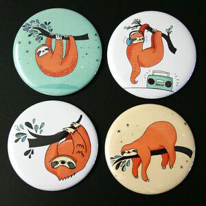 Sloths-Fridge-Magnet-Set-4pc-55mm-Funny-Sloth-Illustrations-Kitchen-Decor-Gift