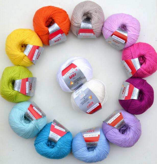7,90€/100g Schoeller+Stahl Baby Mix Babywolle aus Schurwolle & Microfaser
