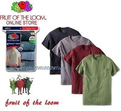 Colori Assortiti Fruit of the Loom-Felpa da Uomo A-Shirts Confezione da 4
