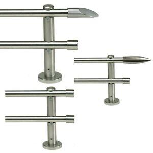 Doppel-Gardinenstange-Stahl-Optik-100-160-200-240-320-360-400-cm-Art-G1622