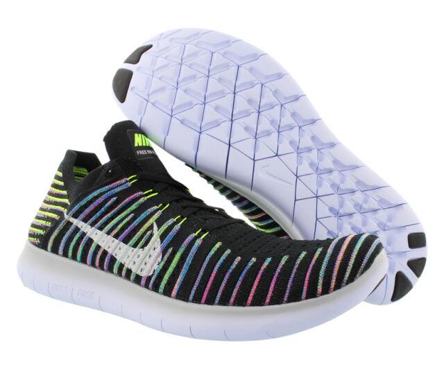 8bb195f28be88 Nike RN Flyknit Mens Running Shoes Size 12 Black Volt Blue Lagoon ...