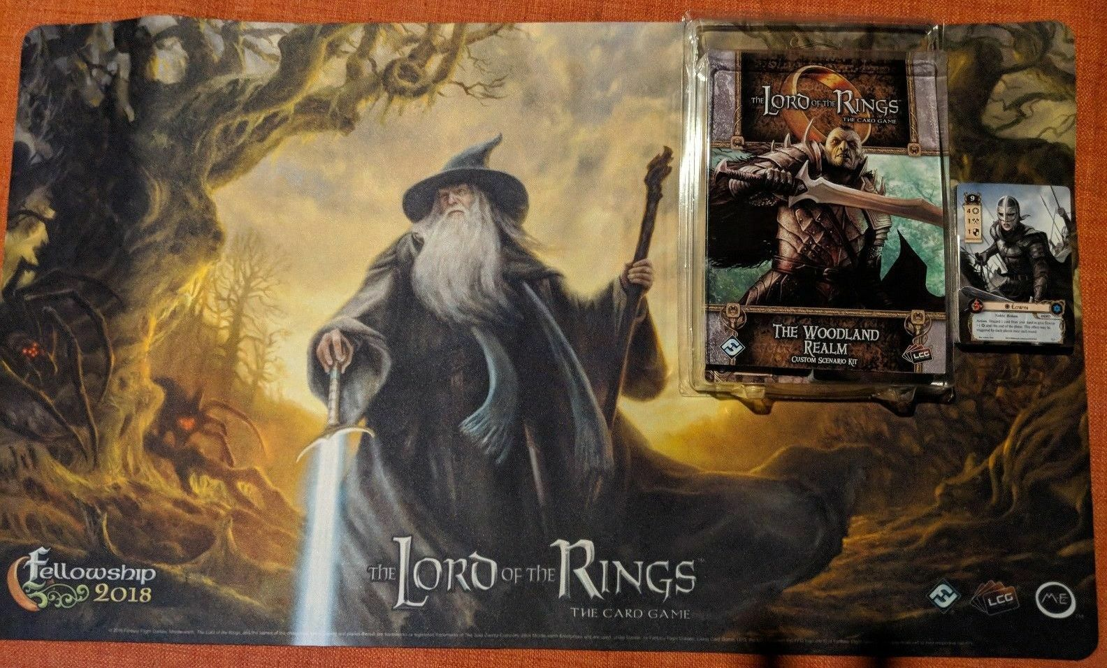 Lord of the Rings LCG 2018 Fellowship Event Kit Playmat Woodland Realm LotR