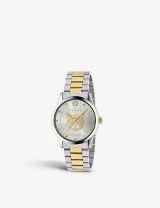 0e767d3ef9a Gucci G-Timeless 38MM Stainless Steel   Gold Women s Watch YA1264074 ...