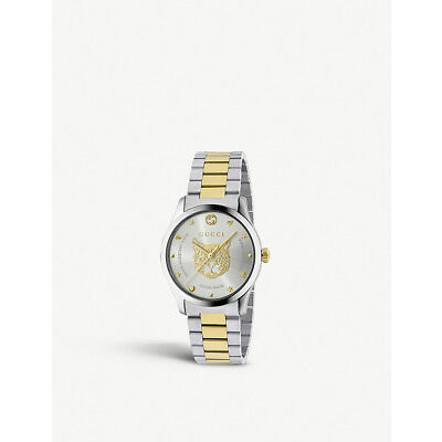 Gucci G-Timeless 38MM Stainless Steel & Gold Women's Watch YA1264074