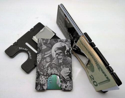 Aluminum Wallet//Credit Card Holder RFID Protection Gambler