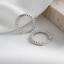 Damen-Creolen-mit-Struktur-echt-Sterling-Silber-925-Ohrringe-Kreolen Indexbild 8
