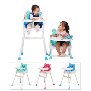 Foldable Baby Dine Highchair Adjustable Height Feeding Chair Home&Travelling Saf