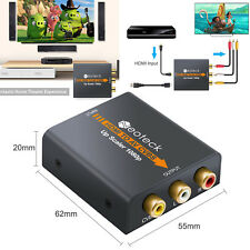 Mini Composite 1080p HDMI to RCA Audio Video AV CVBS Adapter Converter for TV