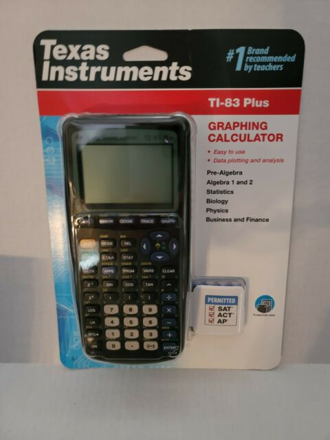 Texas Instruments TI-83 Plus Graphing Calculator - Black - Brand New