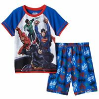 Justice League 2 Piece Pajamas For Summer - Size 4 Boys