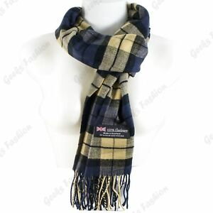 Women-Men-100-CASHMERE-Scarf-Solid-Plaid-Wool-SCOTLAND-High-Quality-Winter