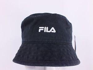 80011ebeeb FILA ADULT S M BLACK FISHING BUCKET HAT BY FILA (H138) 681376023932 ...