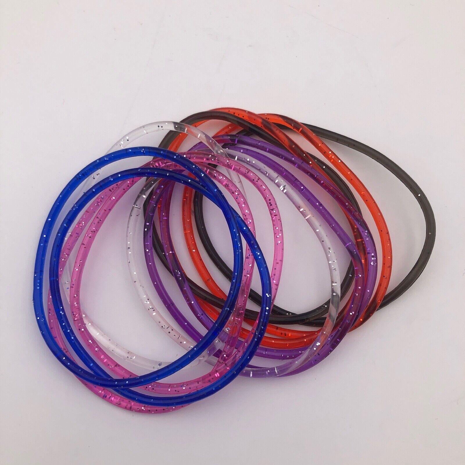 36 x Brightly Coloured Gummy Band Bracelets Gummies Wristbands Shag Bands U.K