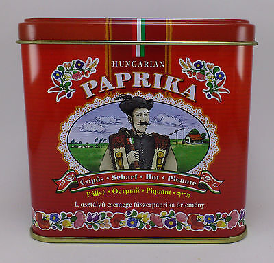 Hungarian Paprika HOT Kalocsai Paprika 100g / 3.5 oz. Tin + FREE wooden scoop