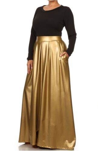 Size Ecopelle Plus Dress in Maxi Combo bicolore qwTCU