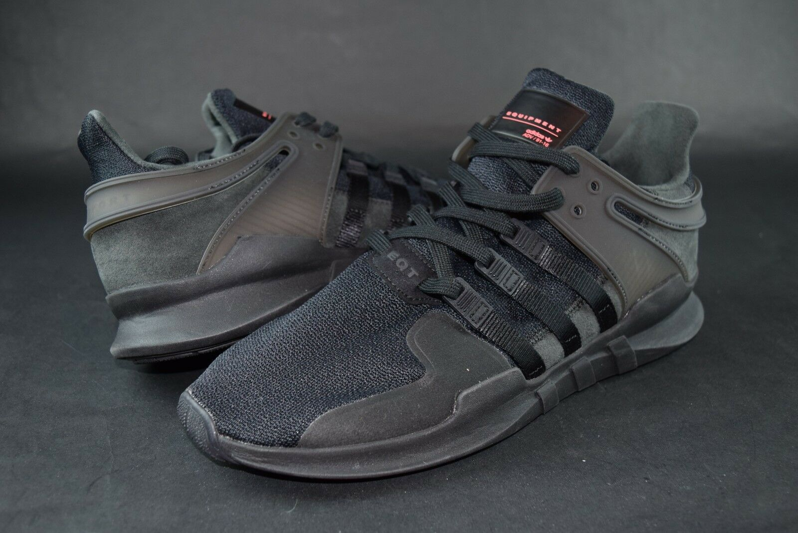 New Mens Adidas EQT Support ADV 91-16 sz 13 Black Sneakers shoes Ortholite