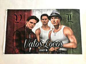 Vatos-Locos-3ftx5ft-flag-banner-Blood-In-Blood-Out-limited-edition-chicano-art