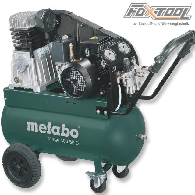 Metabo Druckluft Kompressor Mega 400-50D 400Volt-10bar-50Liter-400l/min 60153700