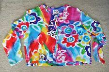 Vintage JAMS WORLD Floral Hawaii Crop Top Shirt Cardiagn SIZE L Hip Hop 90s