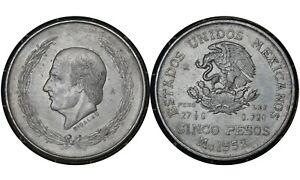 5-Pesos-1952-Mexico-Silver-Coin-Miguel-Hidalgo-y-Costilla-039-s-467