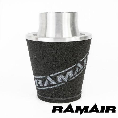 60 mm außen RamAir Universal-Luftfilter in Silberfarben Aluminium-Anschluss