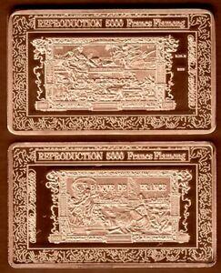 JOLI LINGOT PLAQUE BRONZE BILLET DE 5000 FRANCS FLAMENG - France - EBay MAGNIFIQUE LINGOT EN PLAQUE BRONZEREPRENANT LE BILLET DU 5000 FRANCS FLAMENG En Parfait état, ce lingot sous capsule plastifiée mesure 50mm30mm3mm Plaqué bronze / bronze plated ALLEZ VOIR MES AUTRES VENTES DANS MA BOUTIQUE : DE TOUT, LING - France