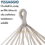 miniatura 3 - AMACA DA GIARDINO ESTERNO IN TESSUTO PREGIATO E LEGNO CON FRANGE BLU 200X100