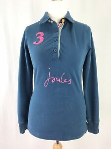 Joules-Brookfield-Azul-Marino-Manga-Larga-Jersey-Top-Uk-Size-10-con-cuello
