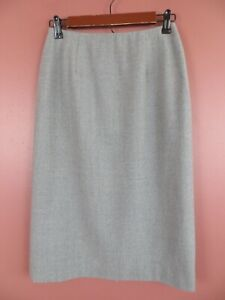 SK13707-RALPH-LAUREN-Womens-96-Wool-Long-Pencil-Skirt-Solid-Gray-Soft-Sz-4