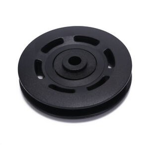 90mm-Black-Bearing-Pulley-Wheel-Cable-Gym-Equipment-Part-Wearproof-gym-tool-EV