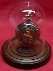 COLT-Firearms-Franklin-Mint-Factory-Single-Action-Army-Pocket-Watch-with-Stand
