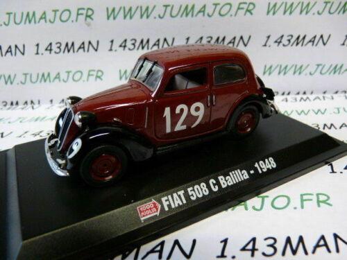 FIAT 508 C balilla 1948 IT83M Voiture hachette 1//43 Mille Miglia