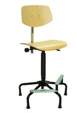 Stuhl Modell 6125 mit Bodengleitern, Sitz Buche, von Lotz