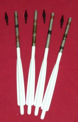 4 X Broad head capable MORRIS bolts for MINI STRIKER crossbow