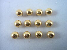 50 Gold Tone Round Domed Nailheads Spots Studs Clothing Decoration Punk 1/4""