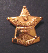 Original Vintage (1950's) Dick Tracy Member Badge Pin! Wonderful Old Toy! Crime