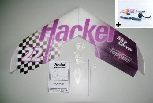 Los piratas informáticos skycarver shockflyer evo combo incl accionamiento servo + + Lipo batería 3s 900