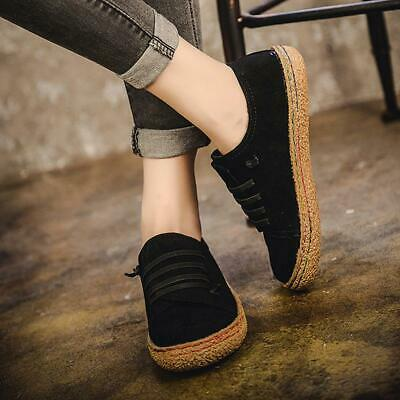 Suede Slip On Soft Loafers Lazy Casual Flat Fashion Shoes For Women Girl Q