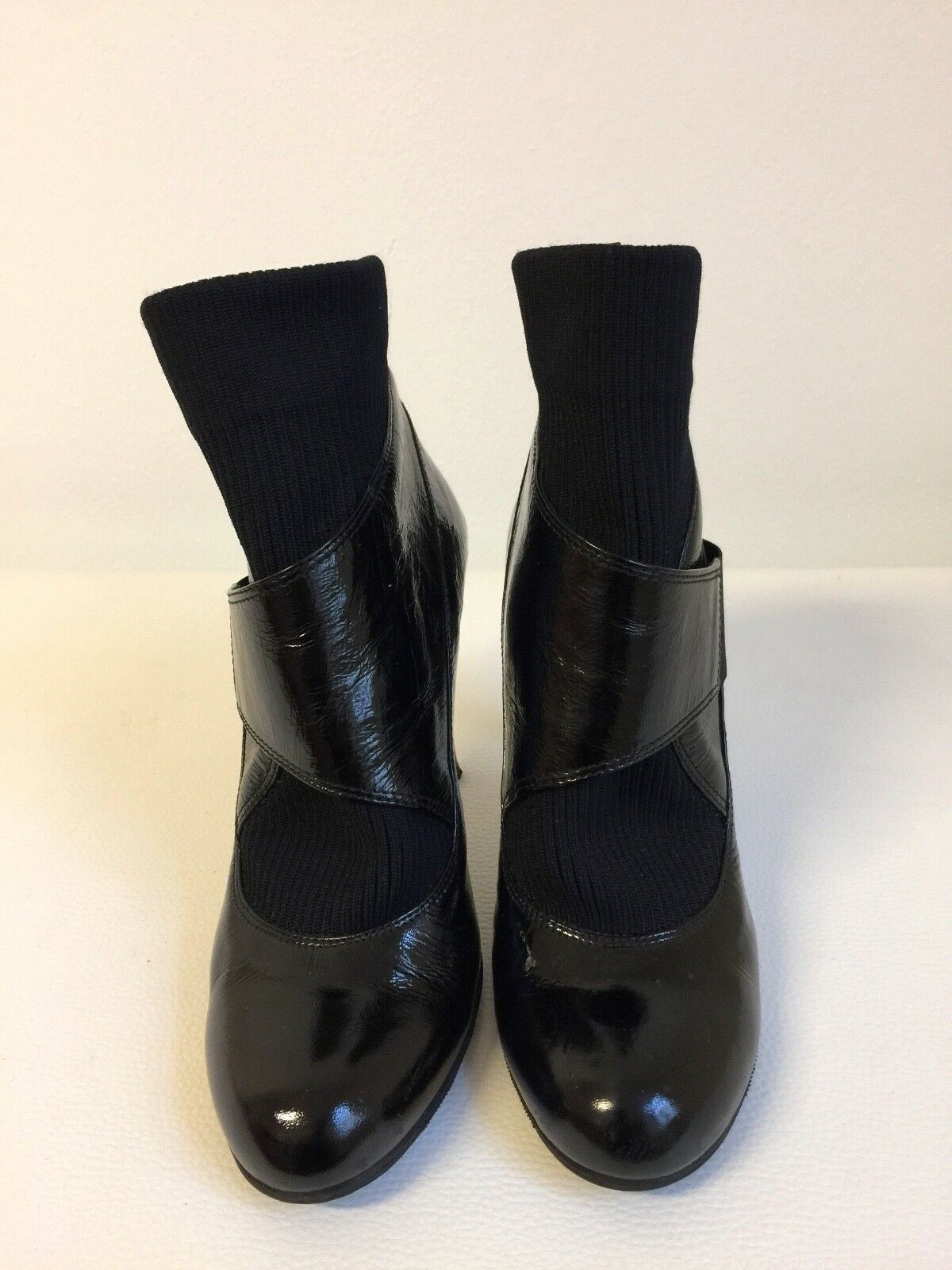 SHY Italy edle, schwarze extravagante extravagante extravagante Stiefeletten / 10 cm Absatz / Gr. 39 41598b